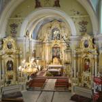 Wnętrze Kościoła pw. Świętego Bartłomieja